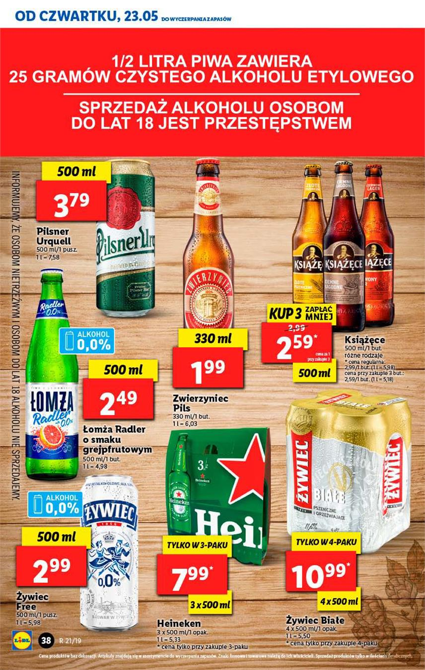 Gazetka Lidl Polska Sp. z o.o. nr 38 od 2019-05-23 do 2019-05-26