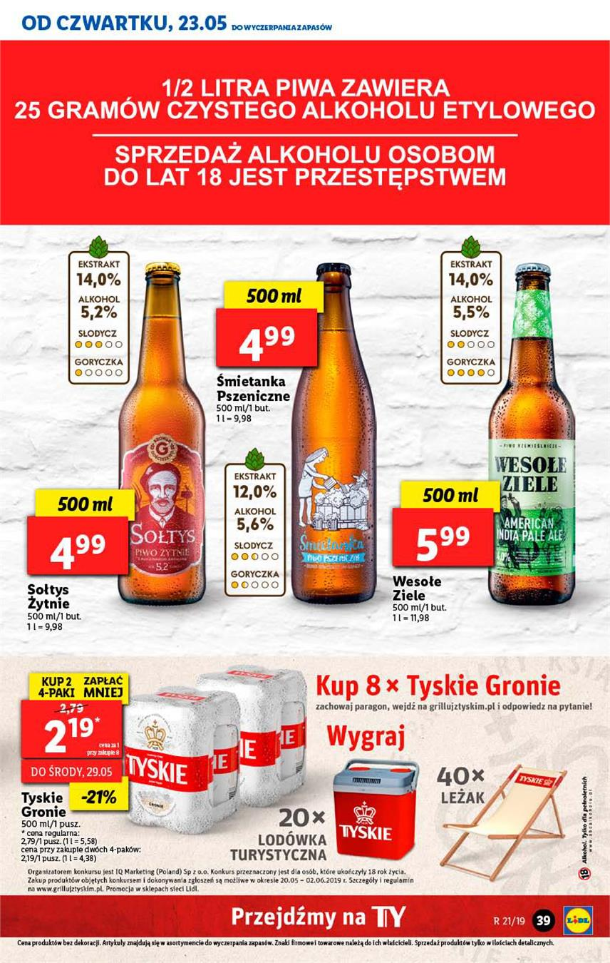 Gazetka Lidl Polska Sp. z o.o. nr 39 od 2019-05-23 do 2019-05-26