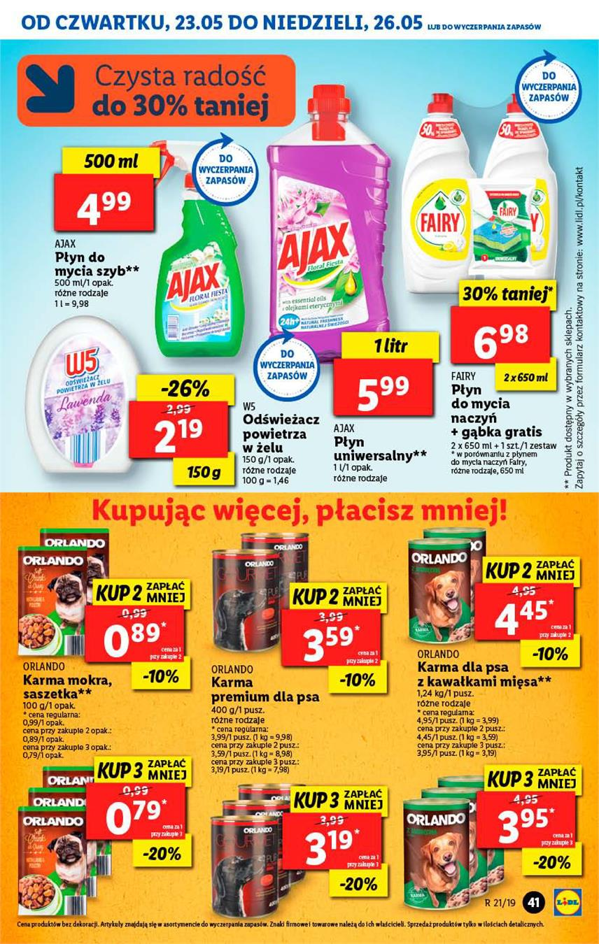 Gazetka Lidl Polska Sp. z o.o. nr 41 od 2019-05-23 do 2019-05-26