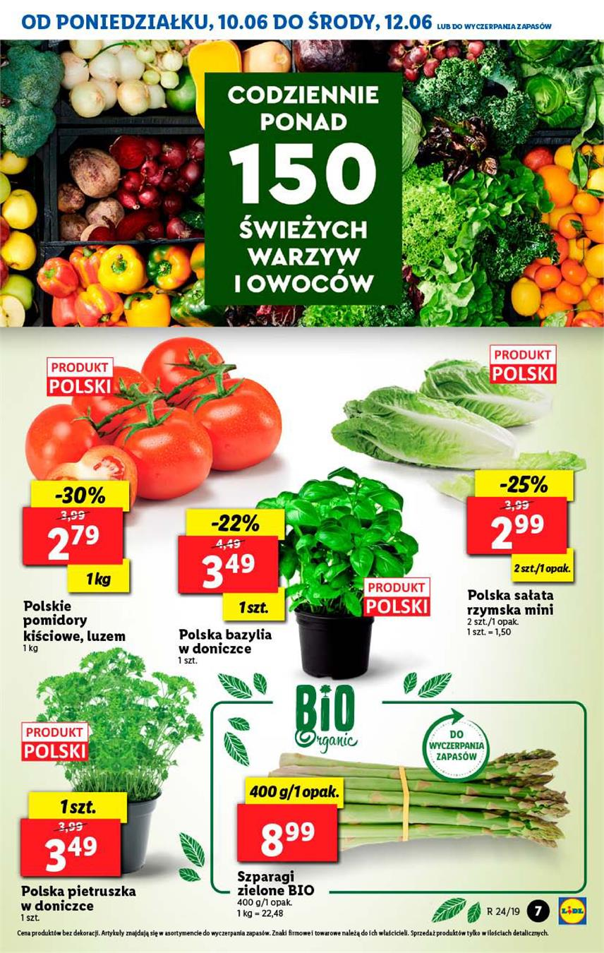 Gazetka Lidl Polska Sp. z o.o. nr 7 od 2019-06-10 do 2019-06-12