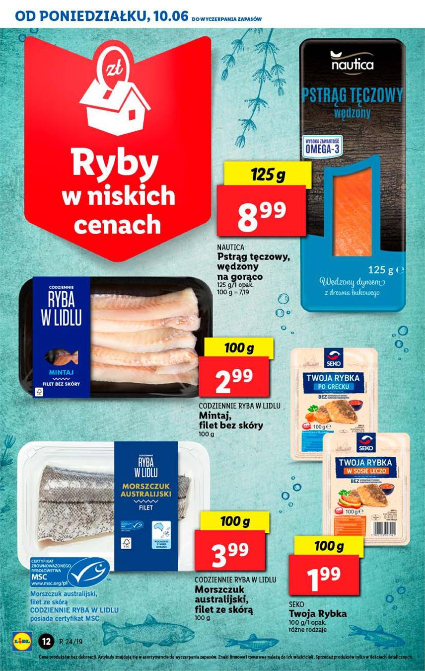 Gazetka Lidl Polska Sp. z o.o. nr 12 od 2019-06-10 do 2019-06-12