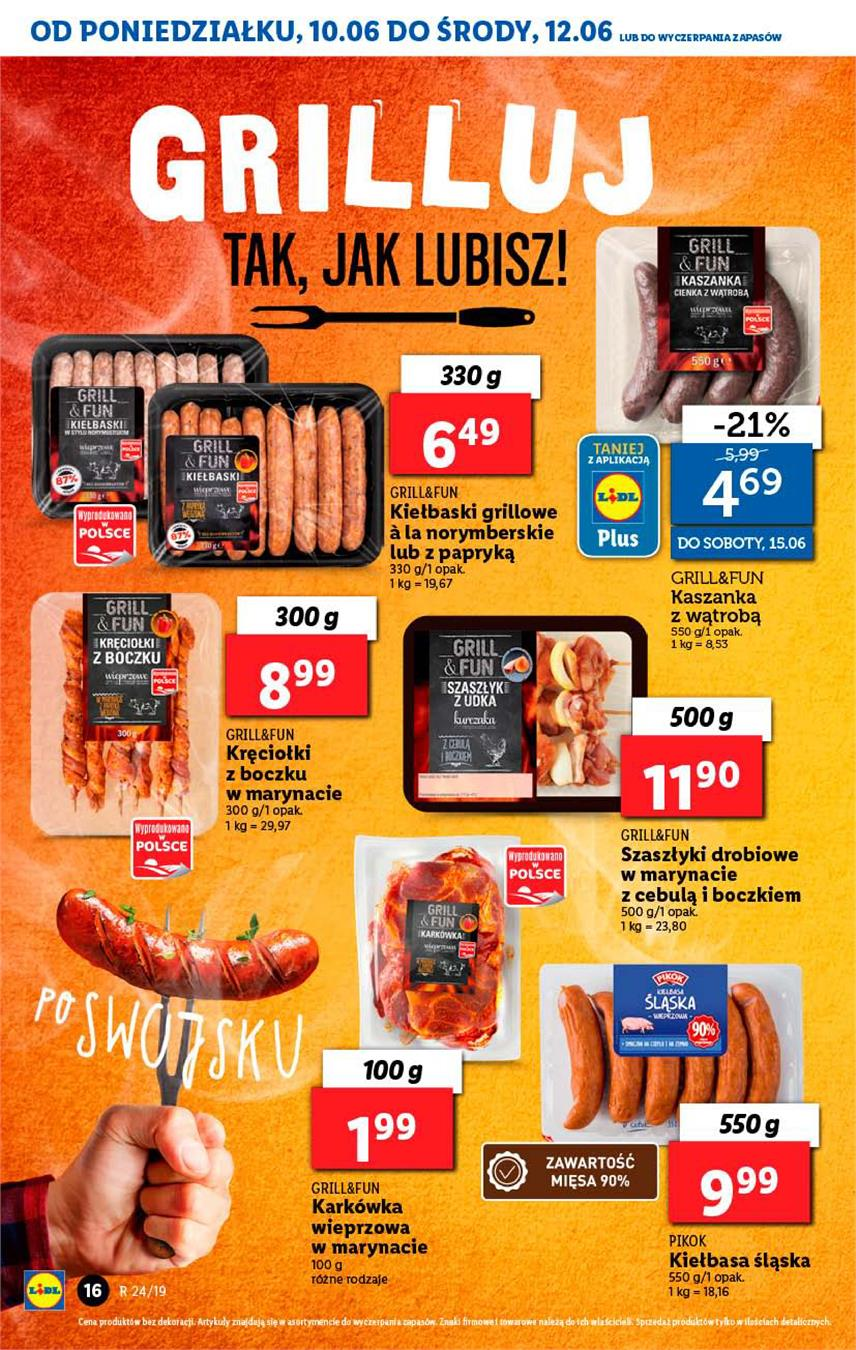 Gazetka Lidl Polska Sp. z o.o. nr 16 od 2019-06-10 do 2019-06-12