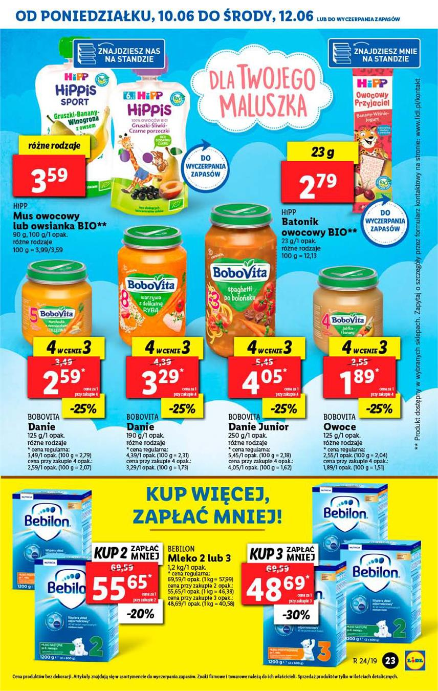 Gazetka Lidl Polska Sp. z o.o. nr 23 od 2019-06-10 do 2019-06-12