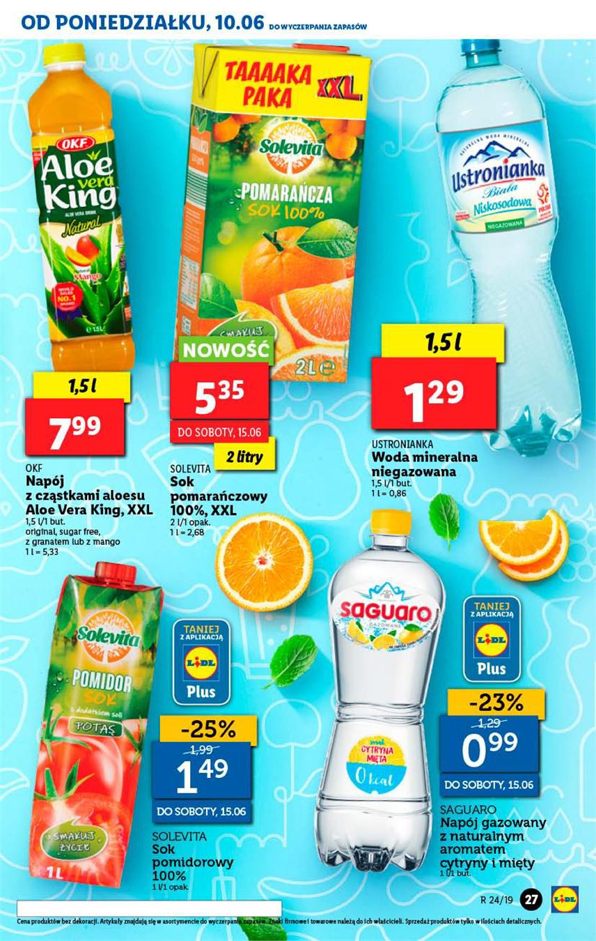 Gazetka Lidl Polska Sp. z o.o. nr 27 od 2019-06-10 do 2019-06-12