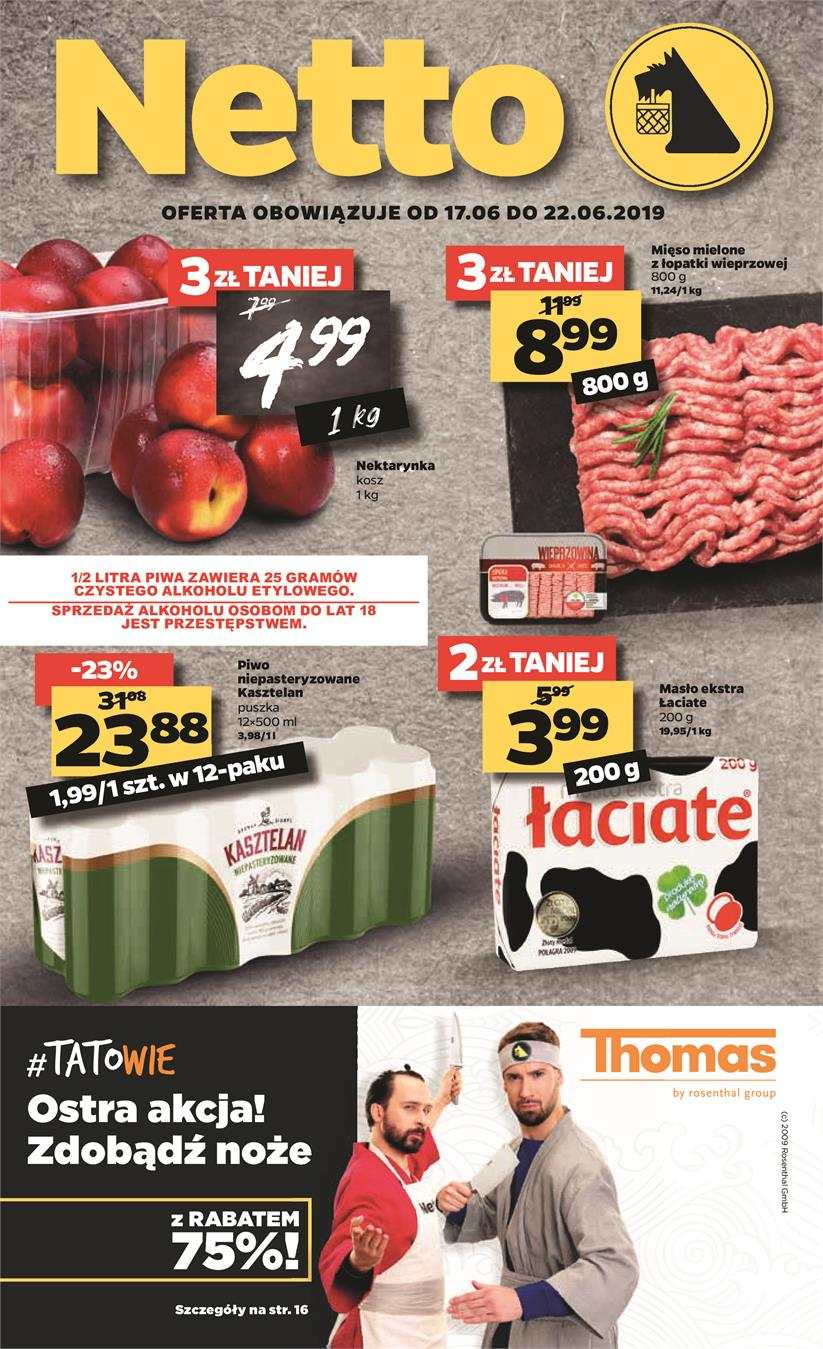 Gazetka Netto Sp. z o.o. nr 1 od 2019-06-17 do 2019-06-23
