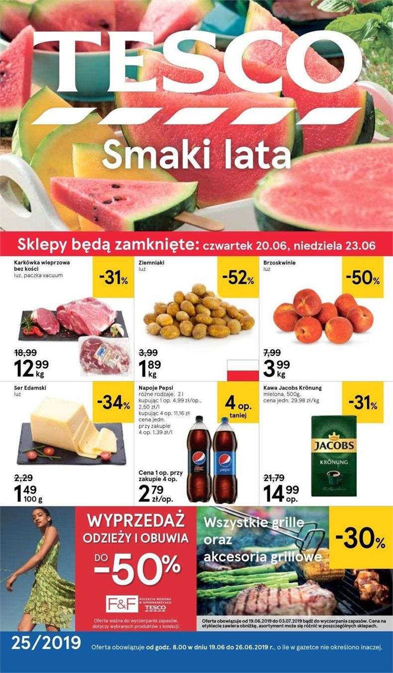 Gazetka Tesco Polska Sp. z o.o. nr 1 od 2019-06-19 do 2019-06-26