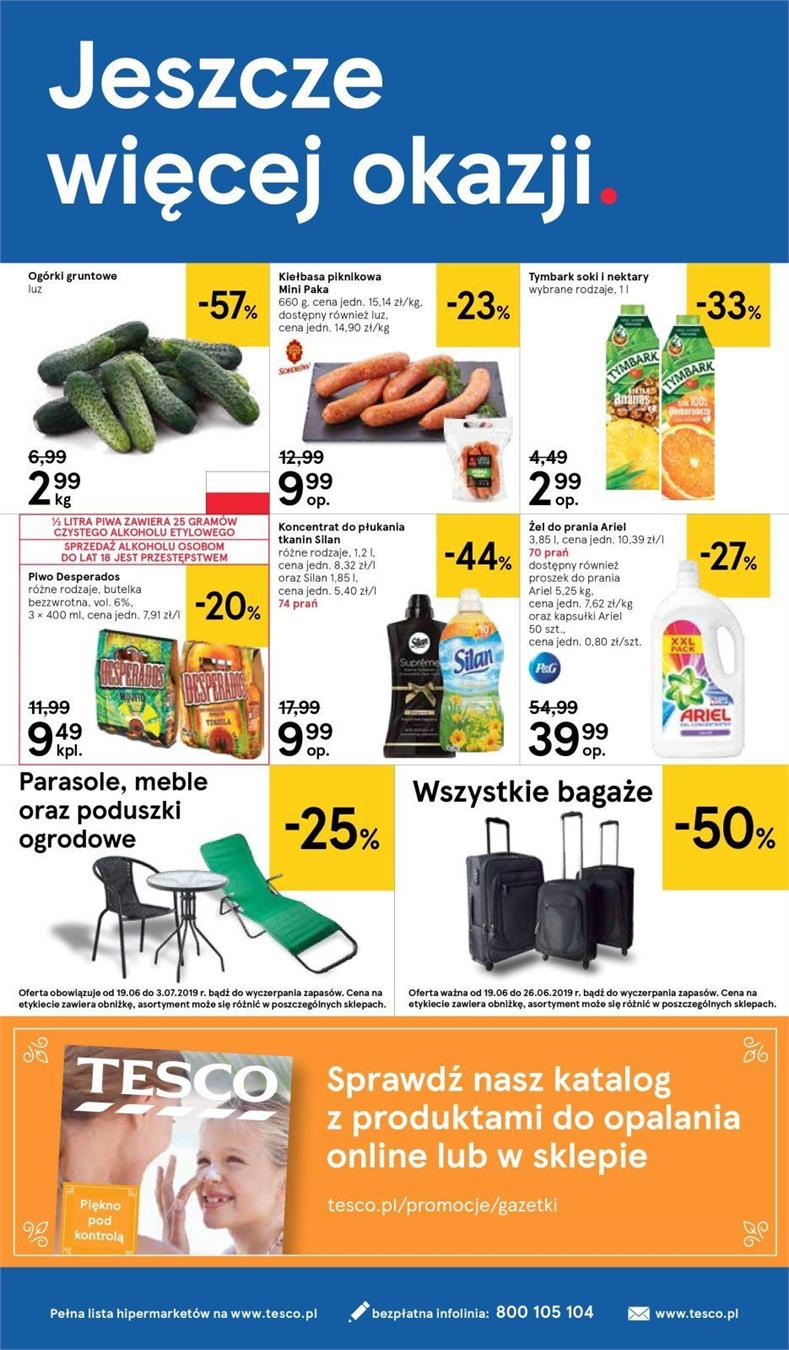 Gazetka Tesco Polska Sp. z o.o. nr 17 od 2019-06-19 do 2019-06-26