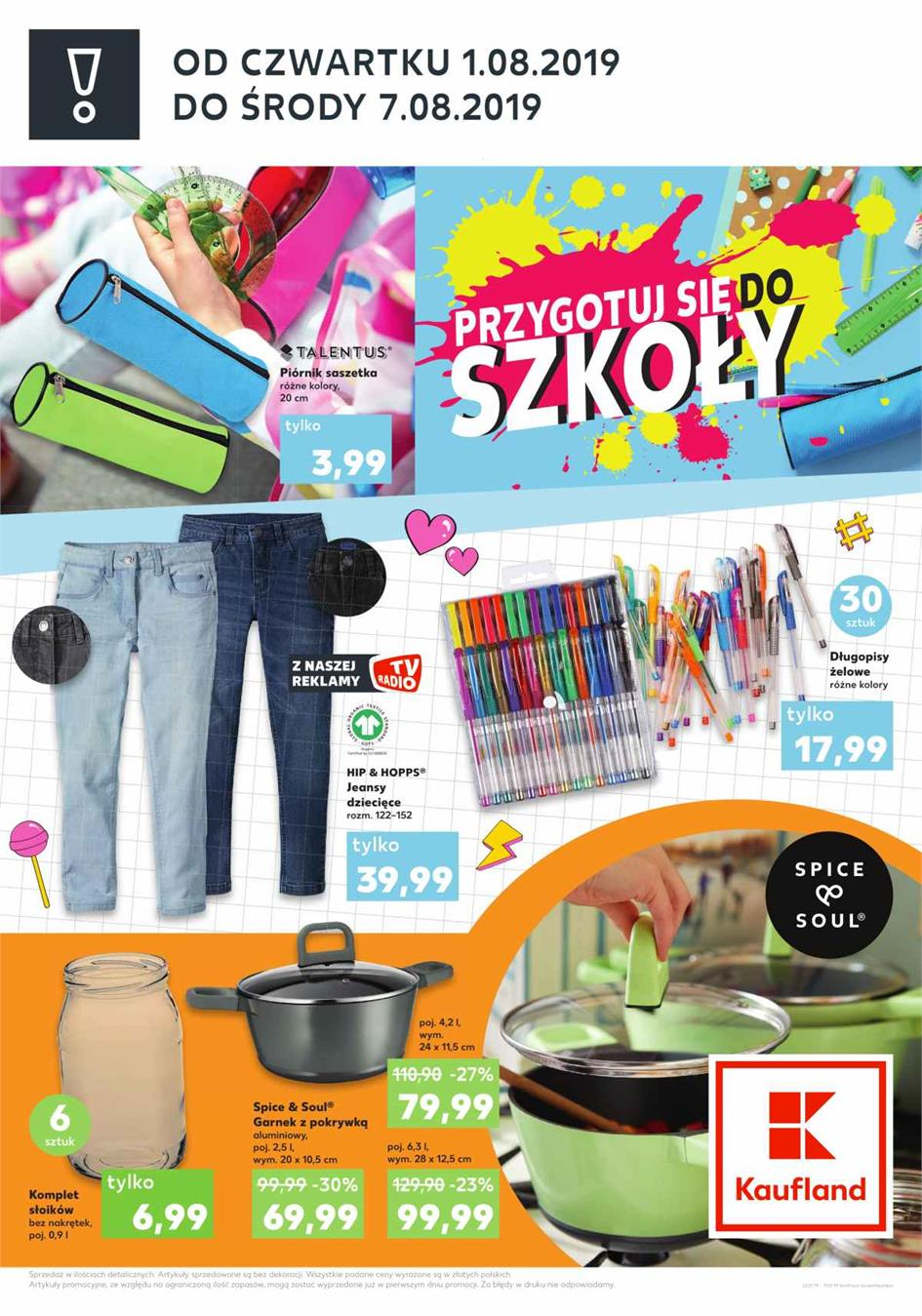 Gazetka Kaufland Polska Markety Sp. z o.o nr 2 od 2019-08-01 do 2019-08-07