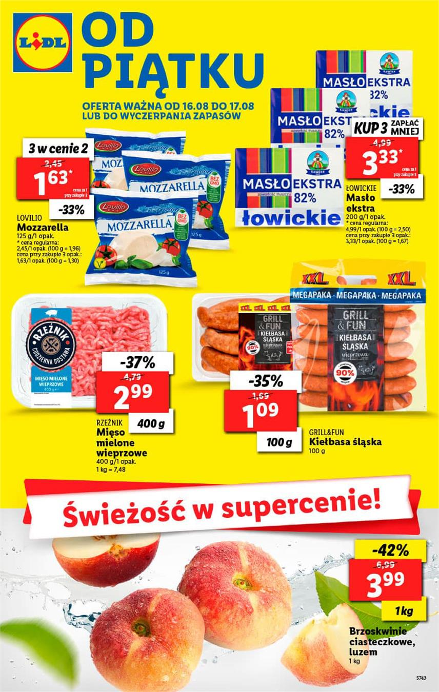 Gazetka Lidl Polska Sp. z o.o. nr 1 od 2019-08-16 do 2019-08-17
