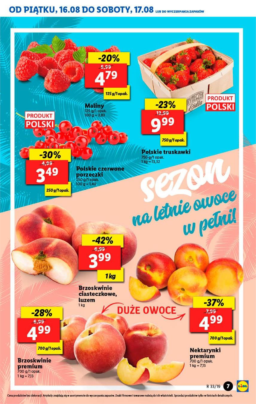 Gazetka Lidl Polska Sp. z o.o. nr 7 od 2019-08-16 do 2019-08-17