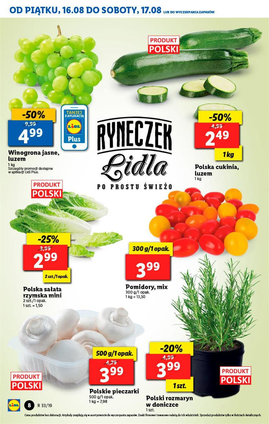 Gazetka Lidl Polska Sp. z o.o. nr 8 od 2019-08-16 do 2019-08-17