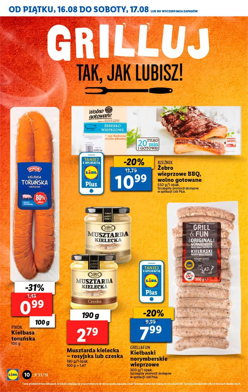Gazetka Lidl Polska Sp. z o.o. nr 10 od 2019-08-16 do 2019-08-17