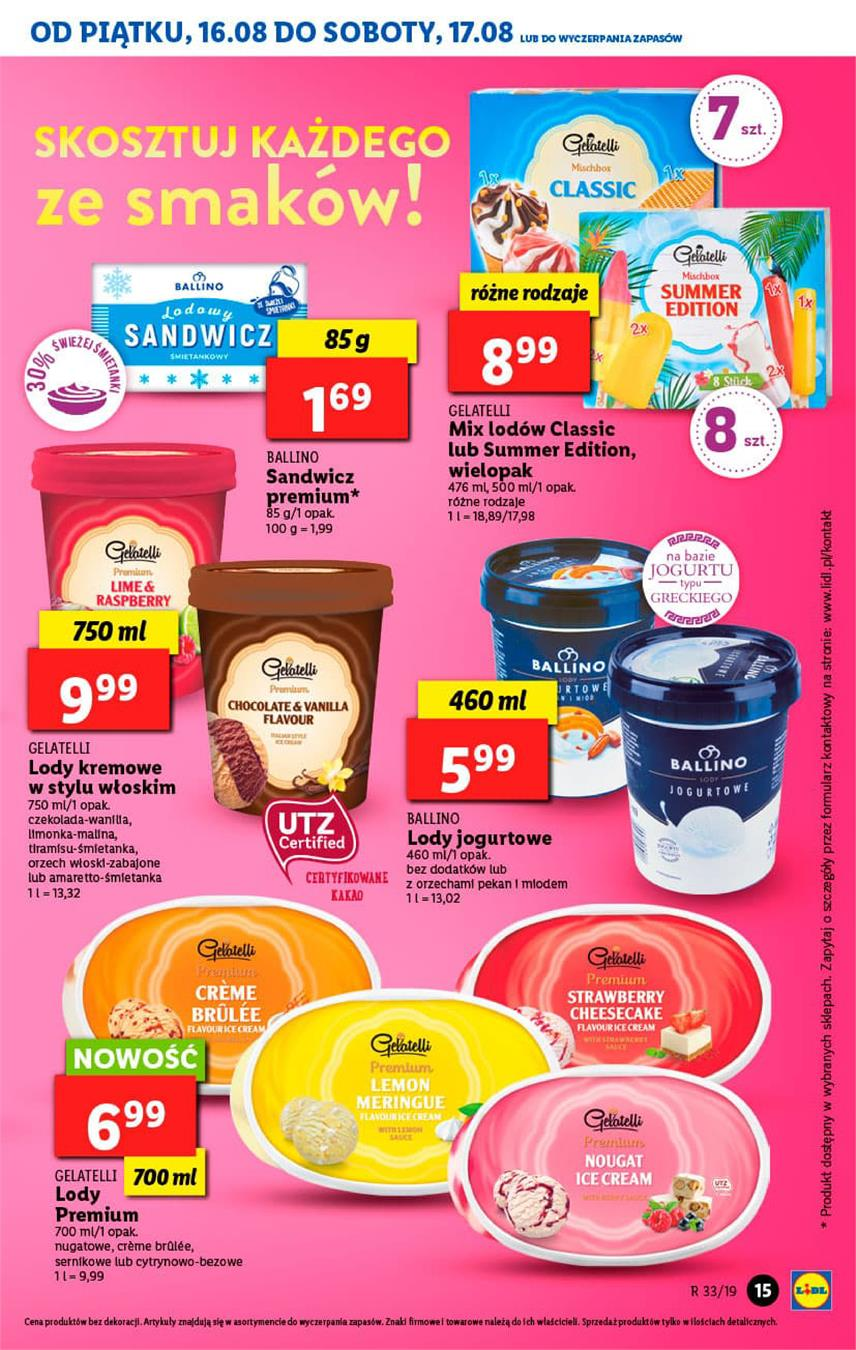 Gazetka Lidl Polska Sp. z o.o. nr 15 od 2019-08-16 do 2019-08-17