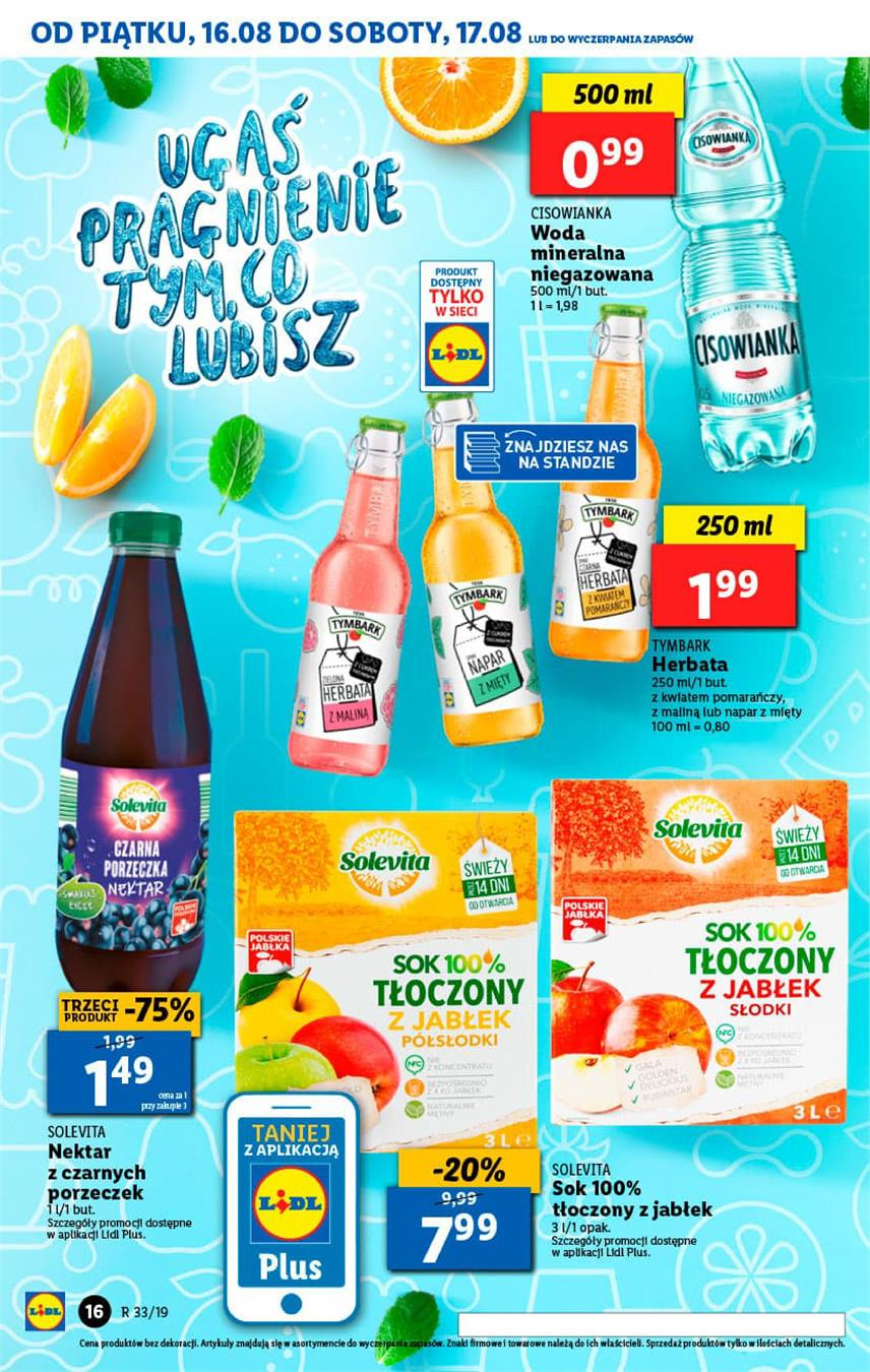 Gazetka Lidl Polska Sp. z o.o. nr 16 od 2019-08-16 do 2019-08-17