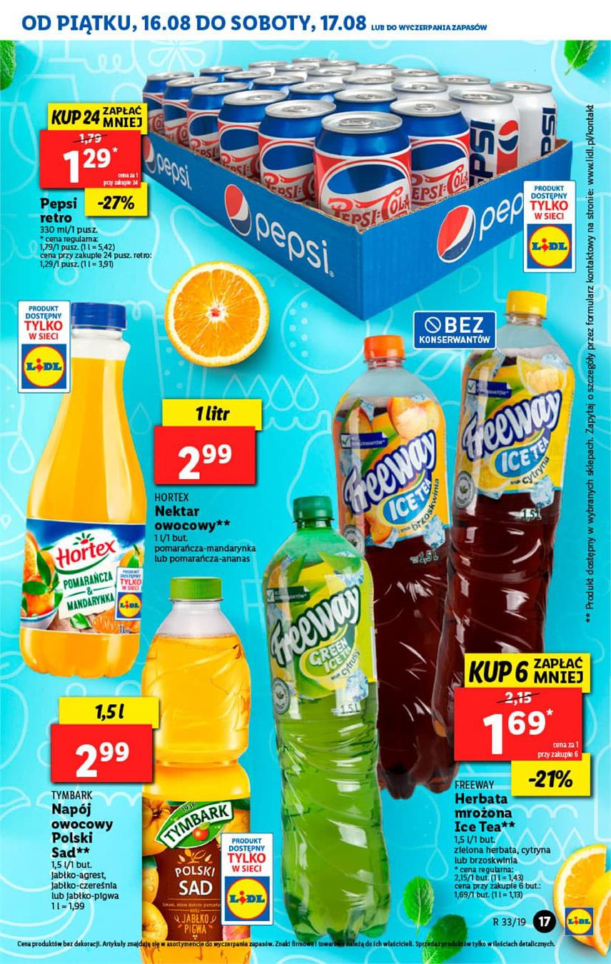 Gazetka Lidl Polska Sp. z o.o. nr 17 od 2019-08-16 do 2019-08-17