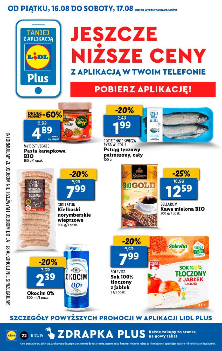 Gazetka Lidl Polska Sp. z o.o. nr 22 od 2019-08-16 do 2019-08-17