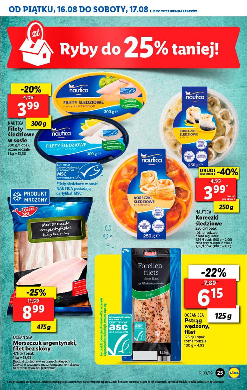Gazetka Lidl Polska Sp. z o.o. nr 25 od 2019-08-16 do 2019-08-17