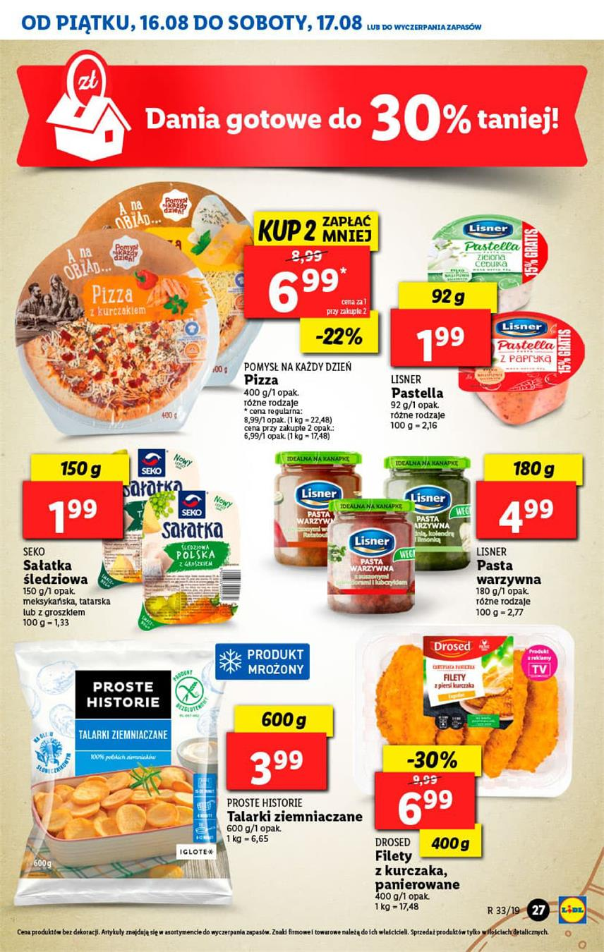 Gazetka Lidl Polska Sp. z o.o. nr 27 od 2019-08-16 do 2019-08-17
