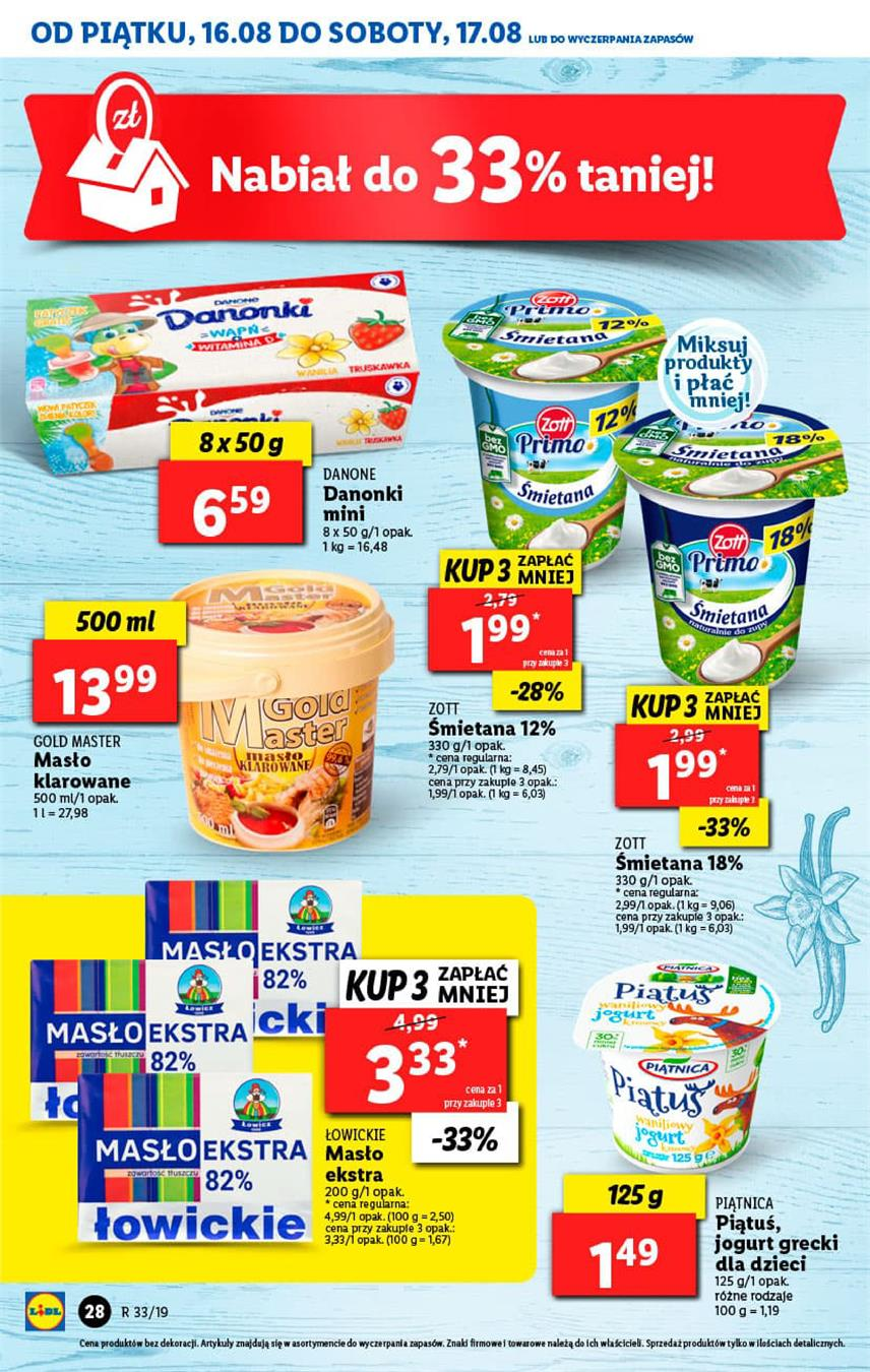 Gazetka Lidl Polska Sp. z o.o. nr 28 od 2019-08-16 do 2019-08-17