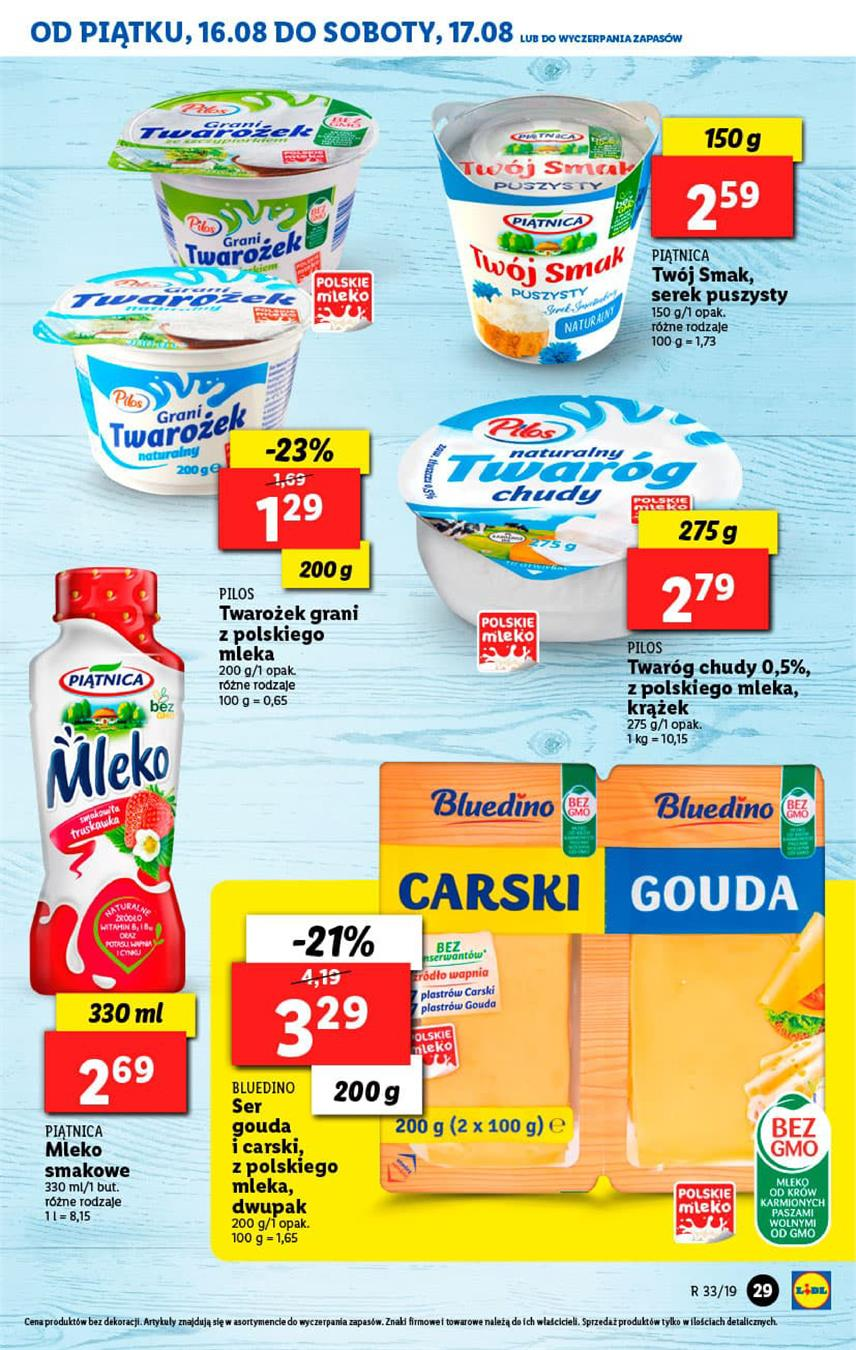 Gazetka Lidl Polska Sp. z o.o. nr 29 od 2019-08-16 do 2019-08-17