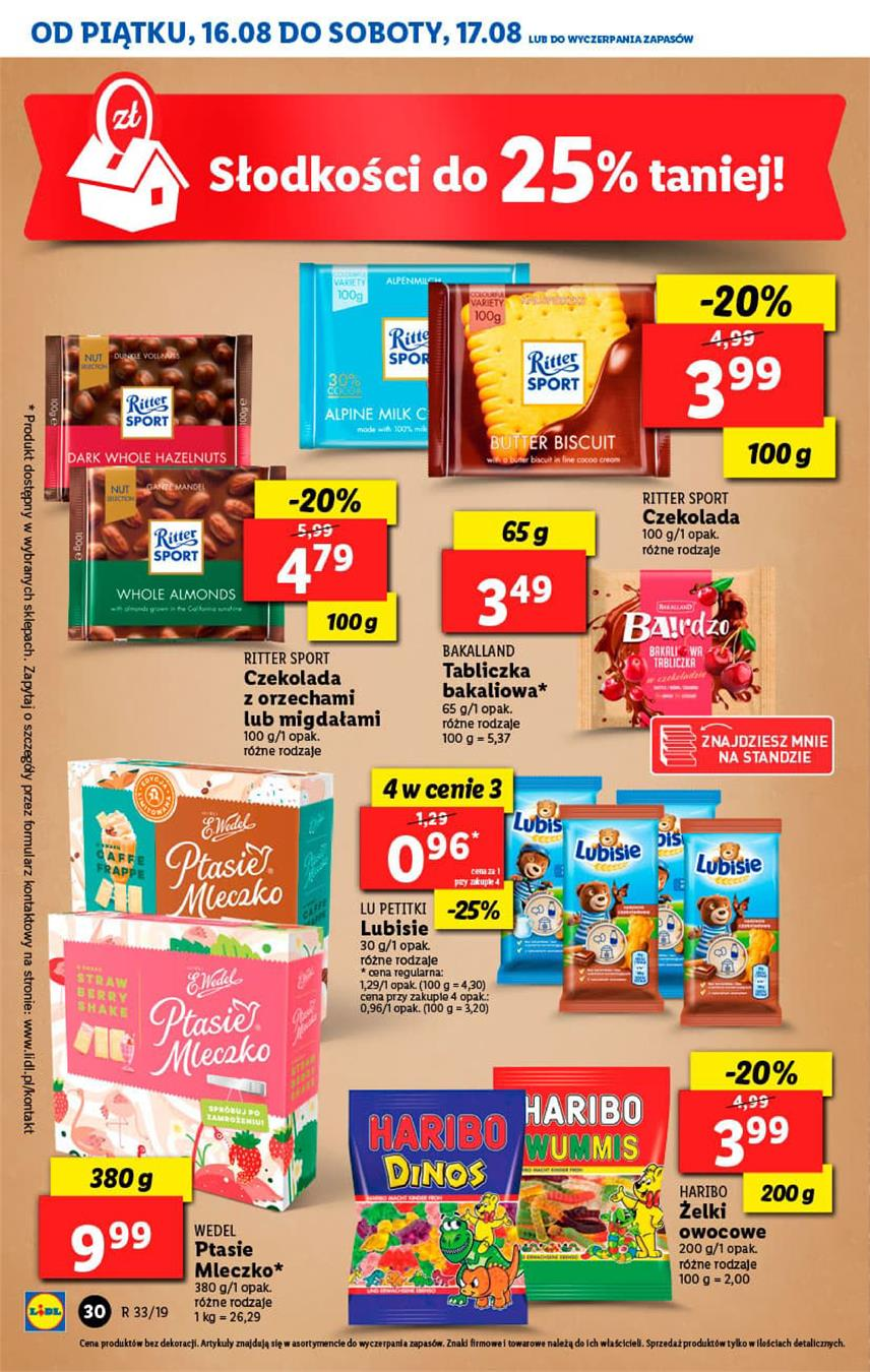 Gazetka Lidl Polska Sp. z o.o. nr 30 od 2019-08-16 do 2019-08-17
