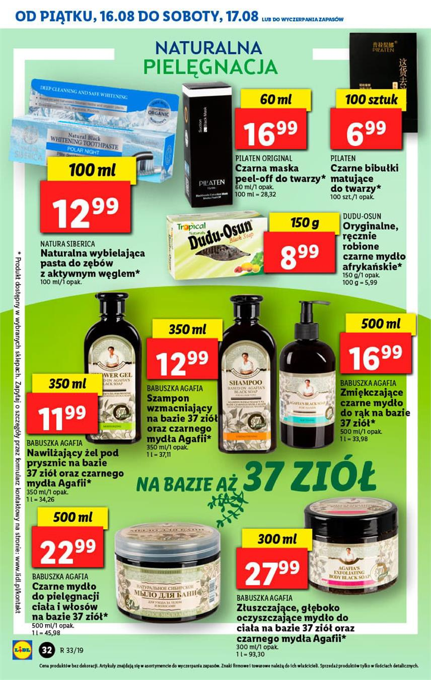 Gazetka Lidl Polska Sp. z o.o. nr 32 od 2019-08-16 do 2019-08-17