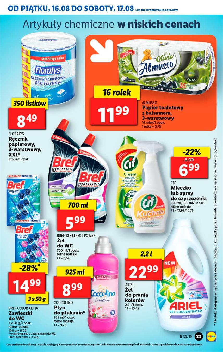 Gazetka Lidl Polska Sp. z o.o. nr 33 od 2019-08-16 do 2019-08-17