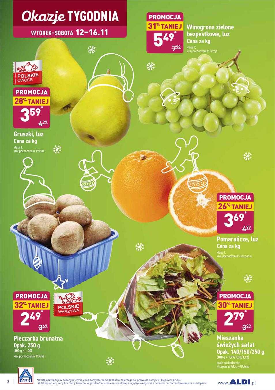 Gazetka ALDI SP Z O O  nr 2 od 2019-11-12 do 2019-11-16