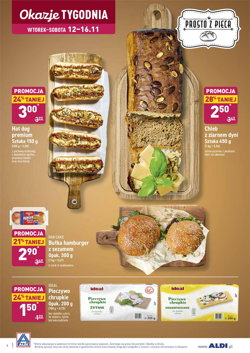Gazetka ALDI SP Z O O  nr 4 od 2019-11-12 do 2019-11-16