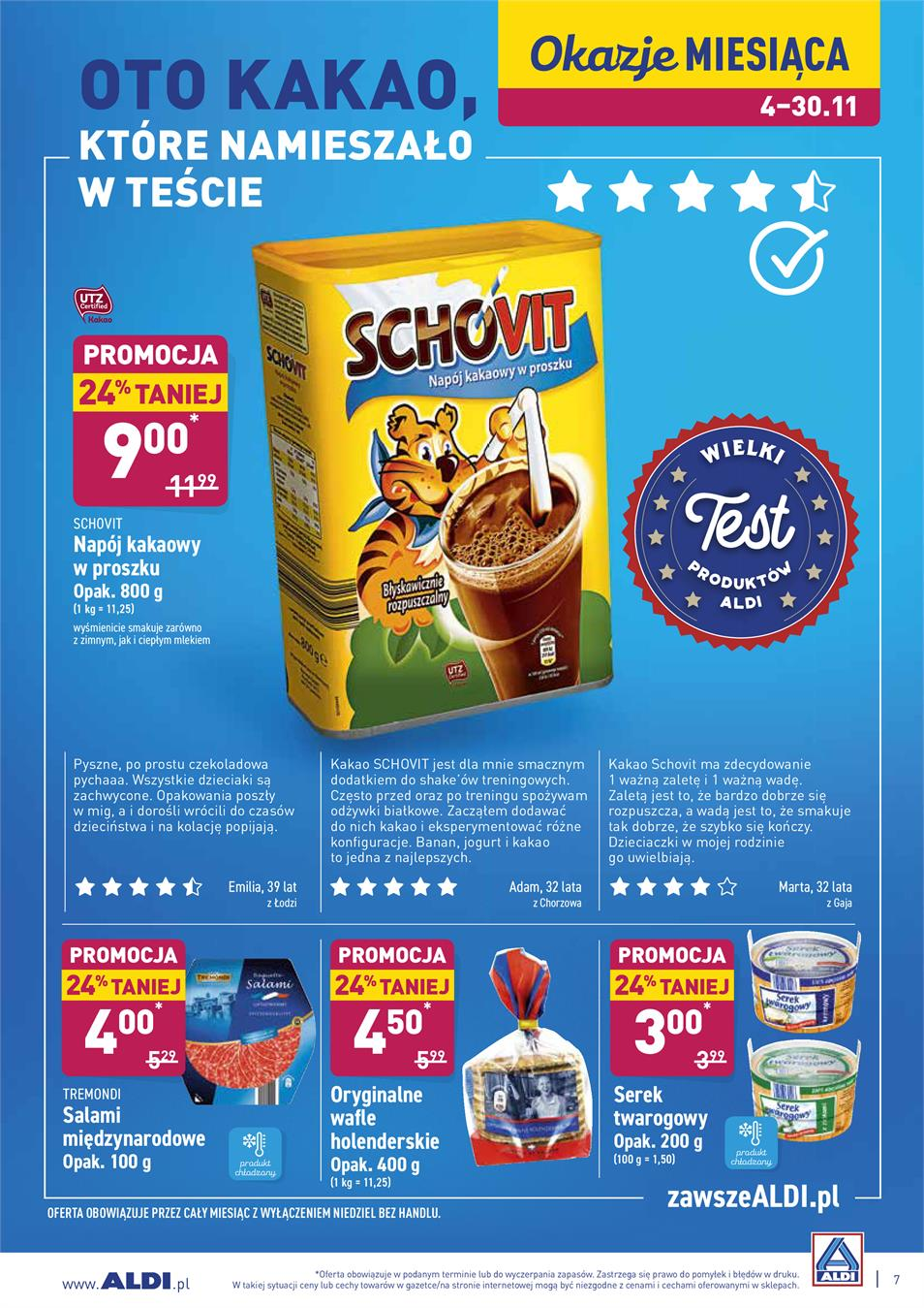 Gazetka ALDI SP Z O O  nr 7 od 2019-11-12 do 2019-11-16
