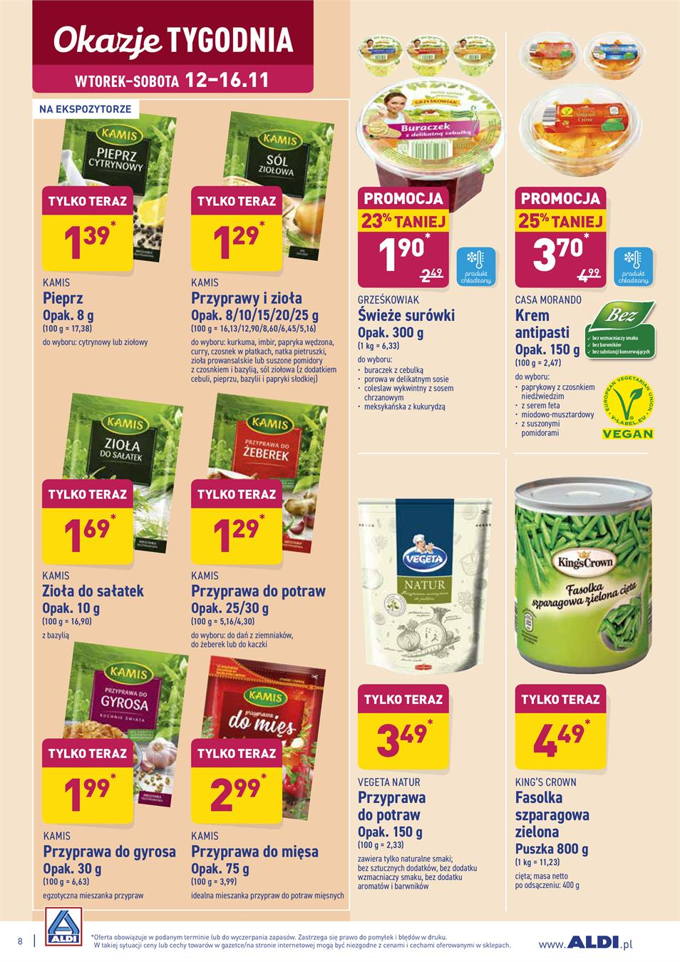 Gazetka ALDI SP Z O O  nr 8 od 2019-11-12 do 2019-11-16