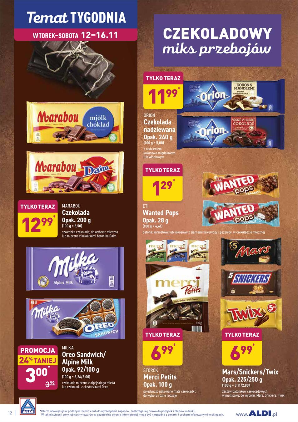 Gazetka ALDI SP Z O O  nr 12 od 2019-11-12 do 2019-11-16