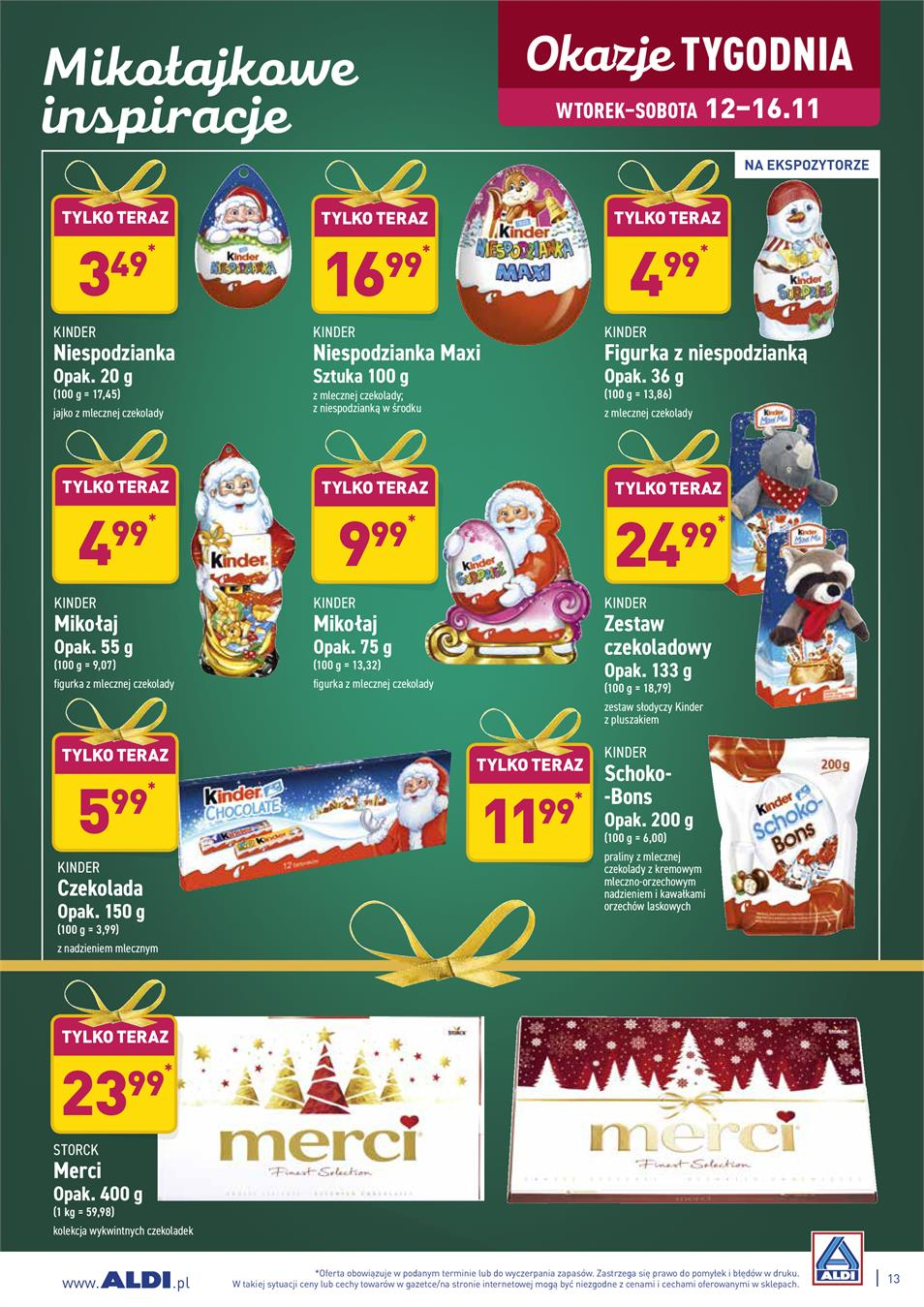 Gazetka ALDI SP Z O O  nr 13 od 2019-11-12 do 2019-11-16