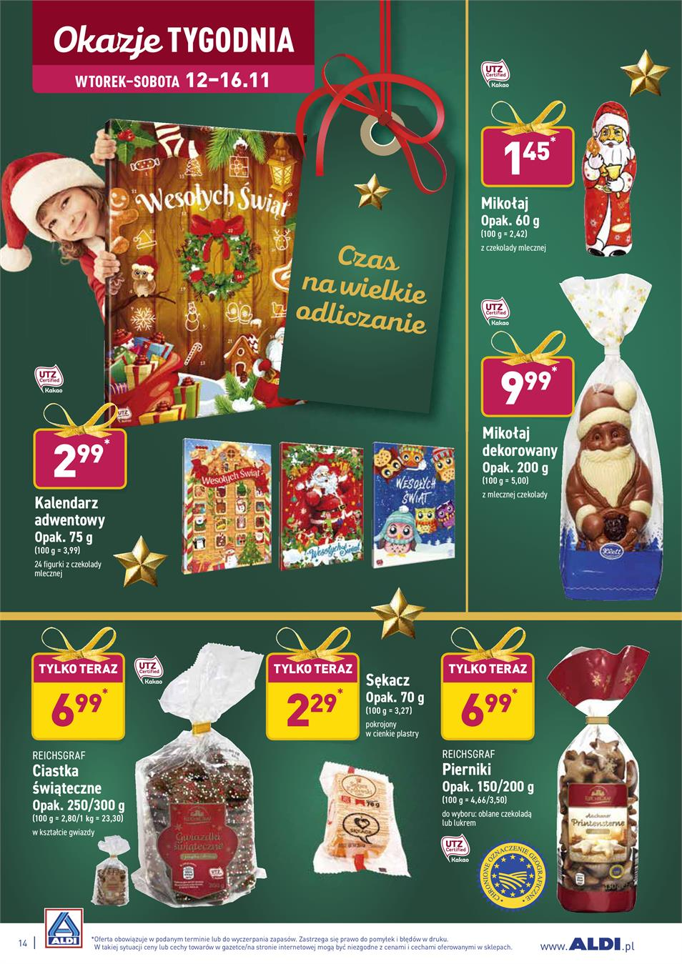 Gazetka ALDI SP Z O O  nr 14 od 2019-11-12 do 2019-11-16