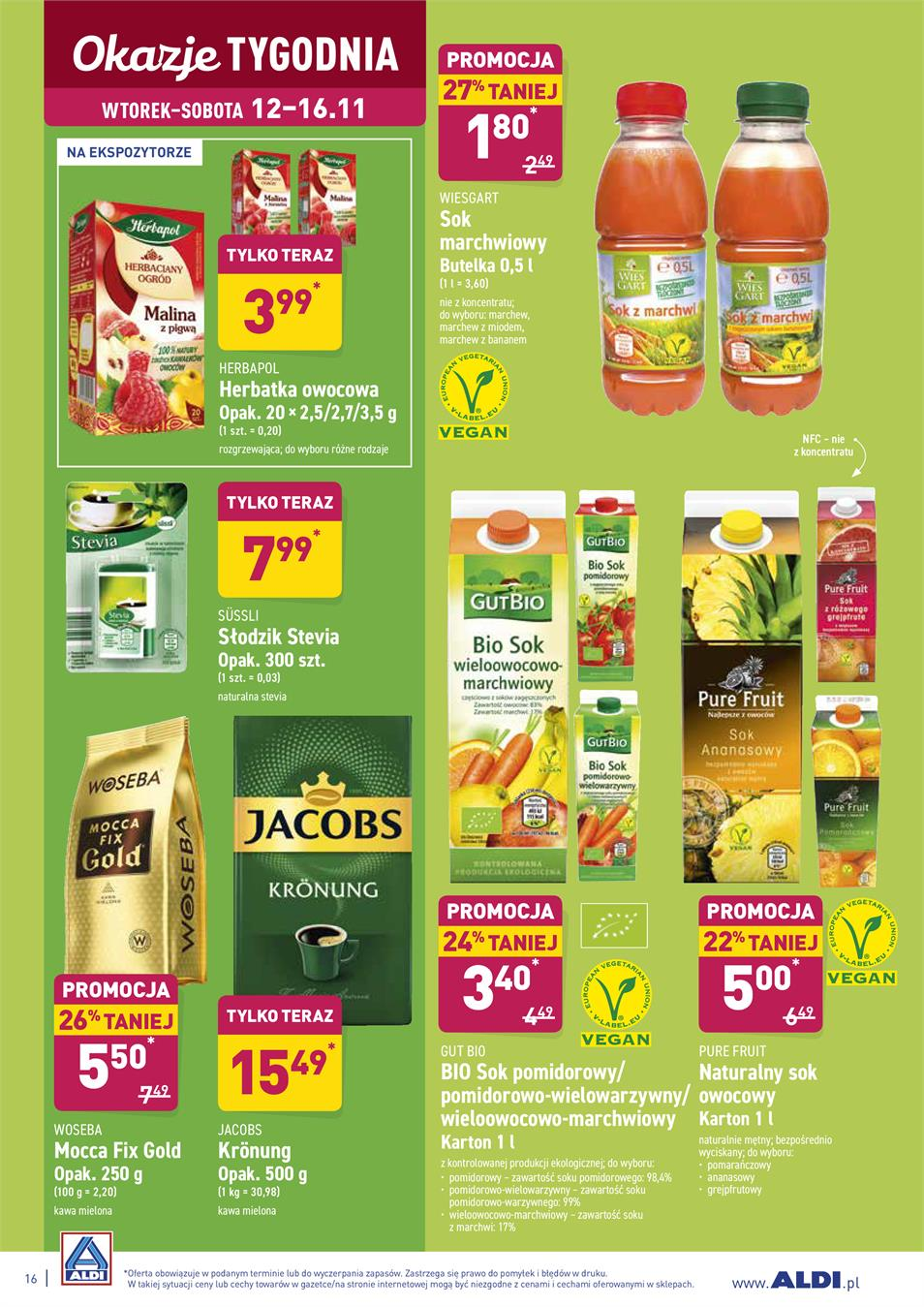 Gazetka ALDI SP Z O O  nr 16 od 2019-11-12 do 2019-11-16