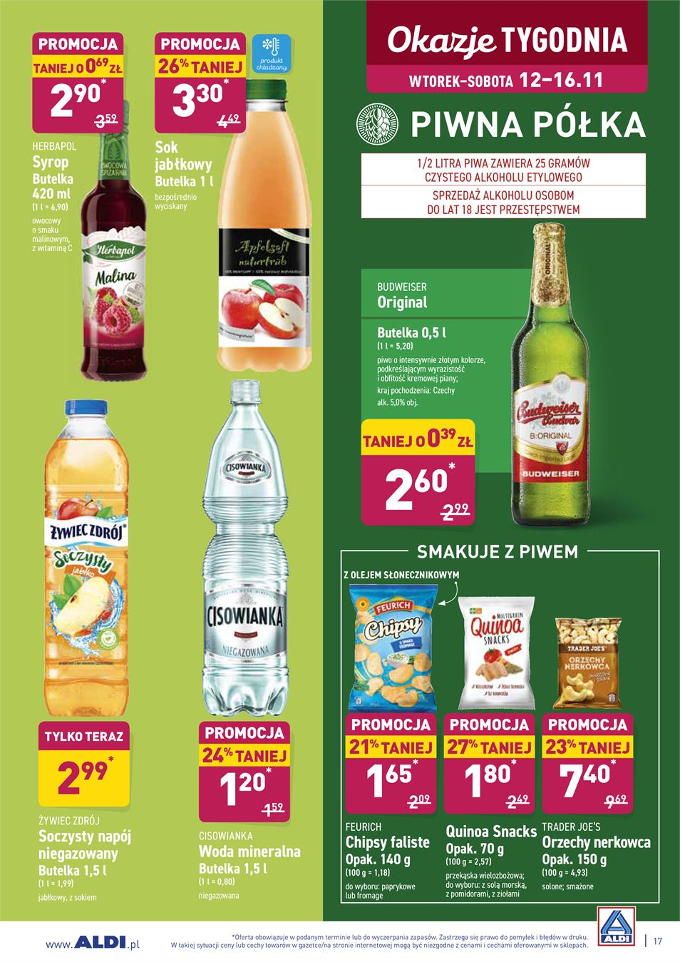 Gazetka ALDI SP Z O O  nr 17 od 2019-11-12 do 2019-11-16