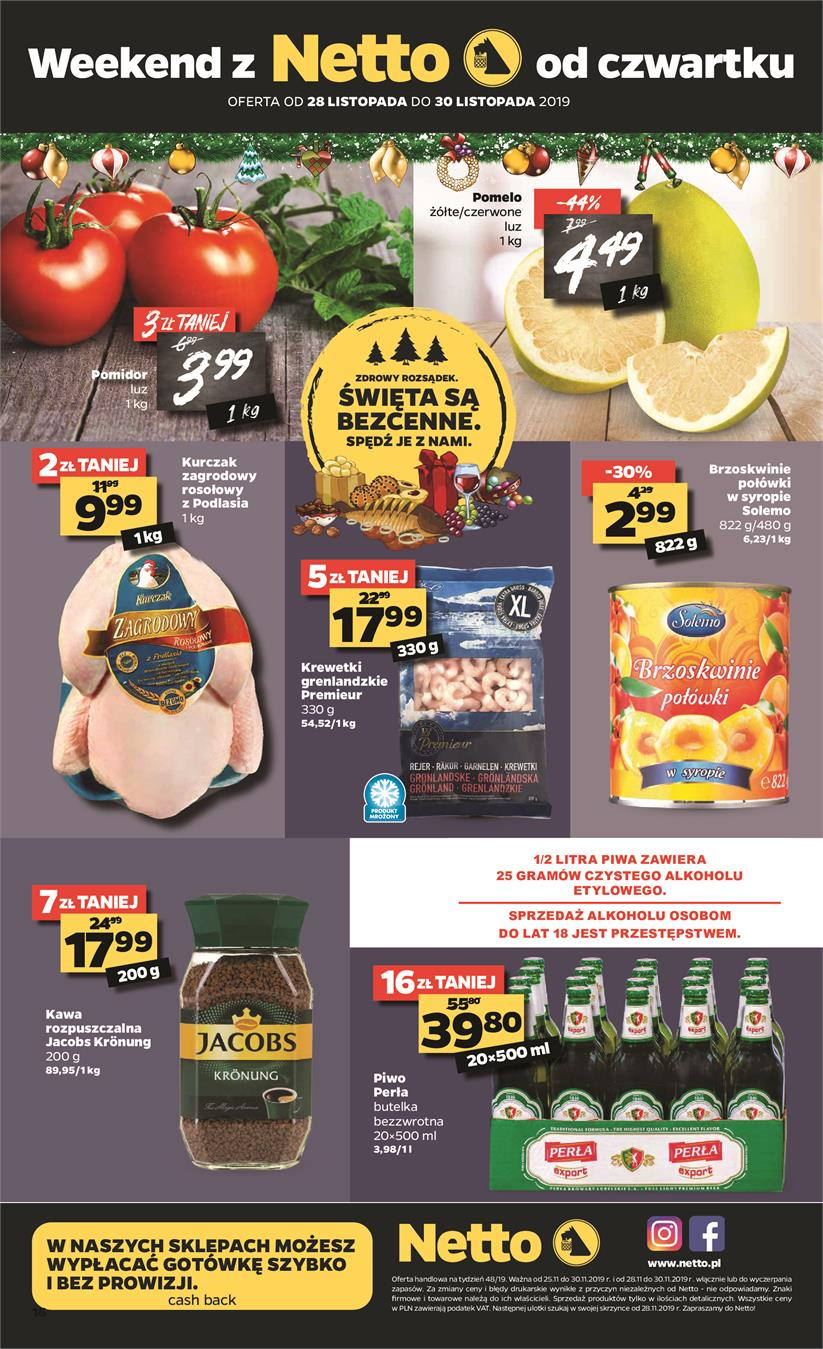 Gazetka Netto Sp. z o.o. nr 16 od 2019-11-25 do 2019-11-30