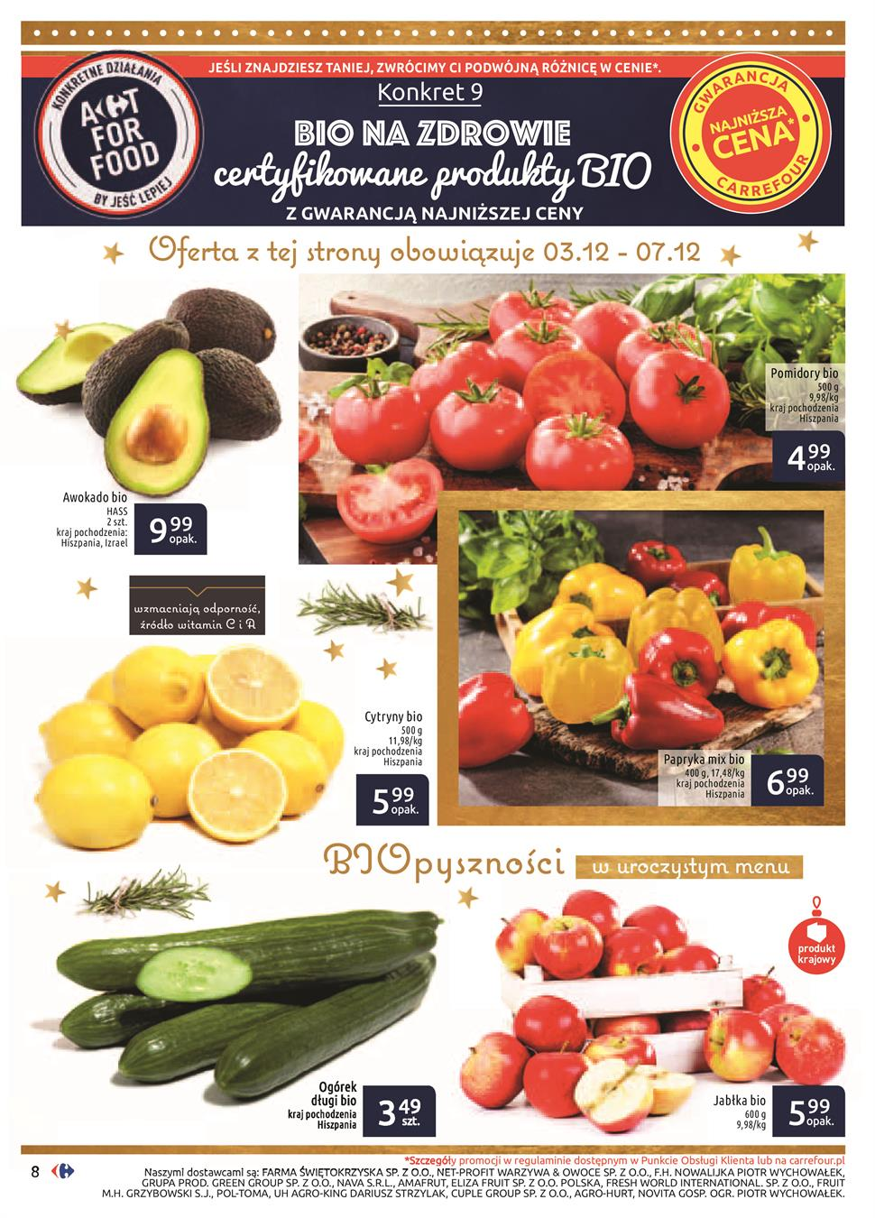 Gazetka Carrefour Polska Sp. z o.o. nr 8 od 2019-12-03 do 2019-12-24