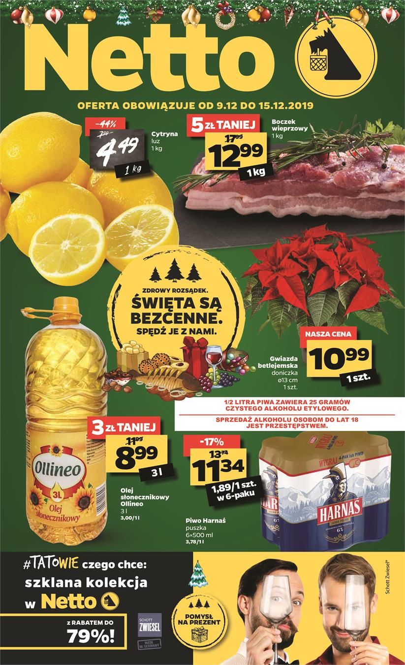 Gazetka Netto Sp. z o.o. nr 1 od 2019-12-09 do 2019-12-15