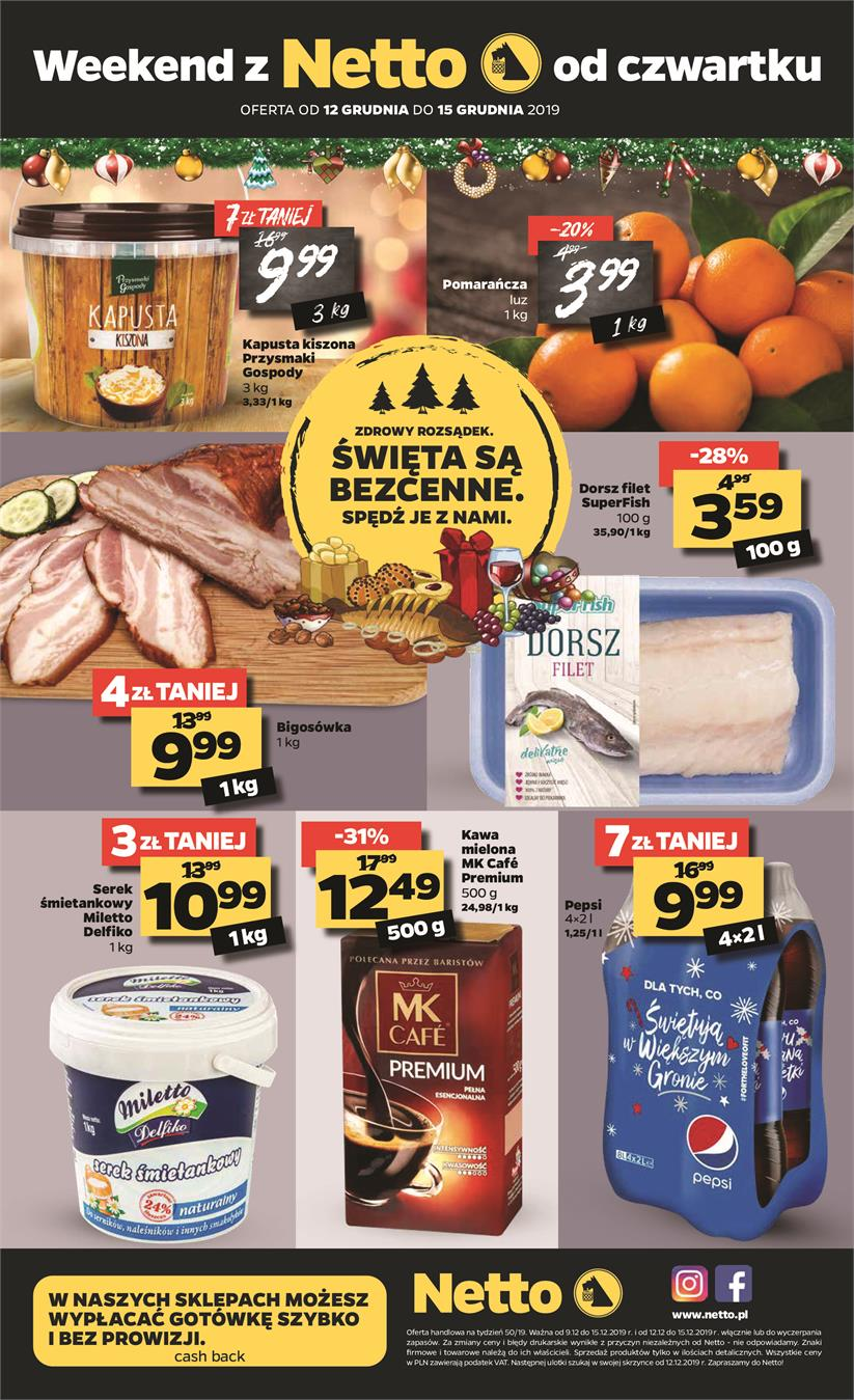 Gazetka Netto Sp. z o.o. nr 20 od 2019-12-09 do 2019-12-15