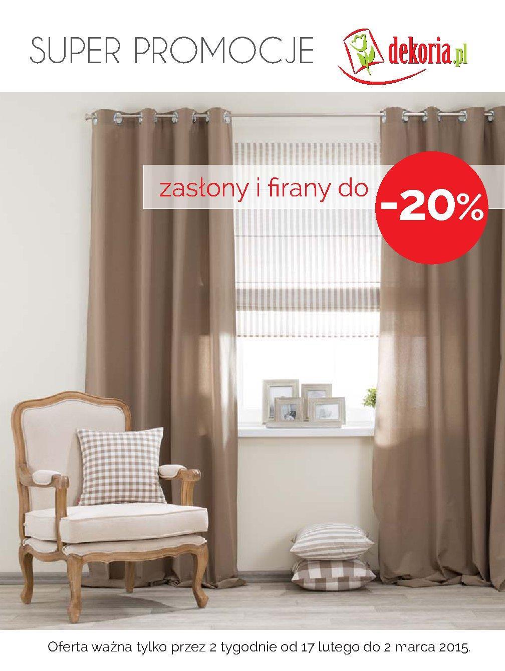 Gazetka Promocyjna Dekoriapl Zasłony I Firany 20 Taniej