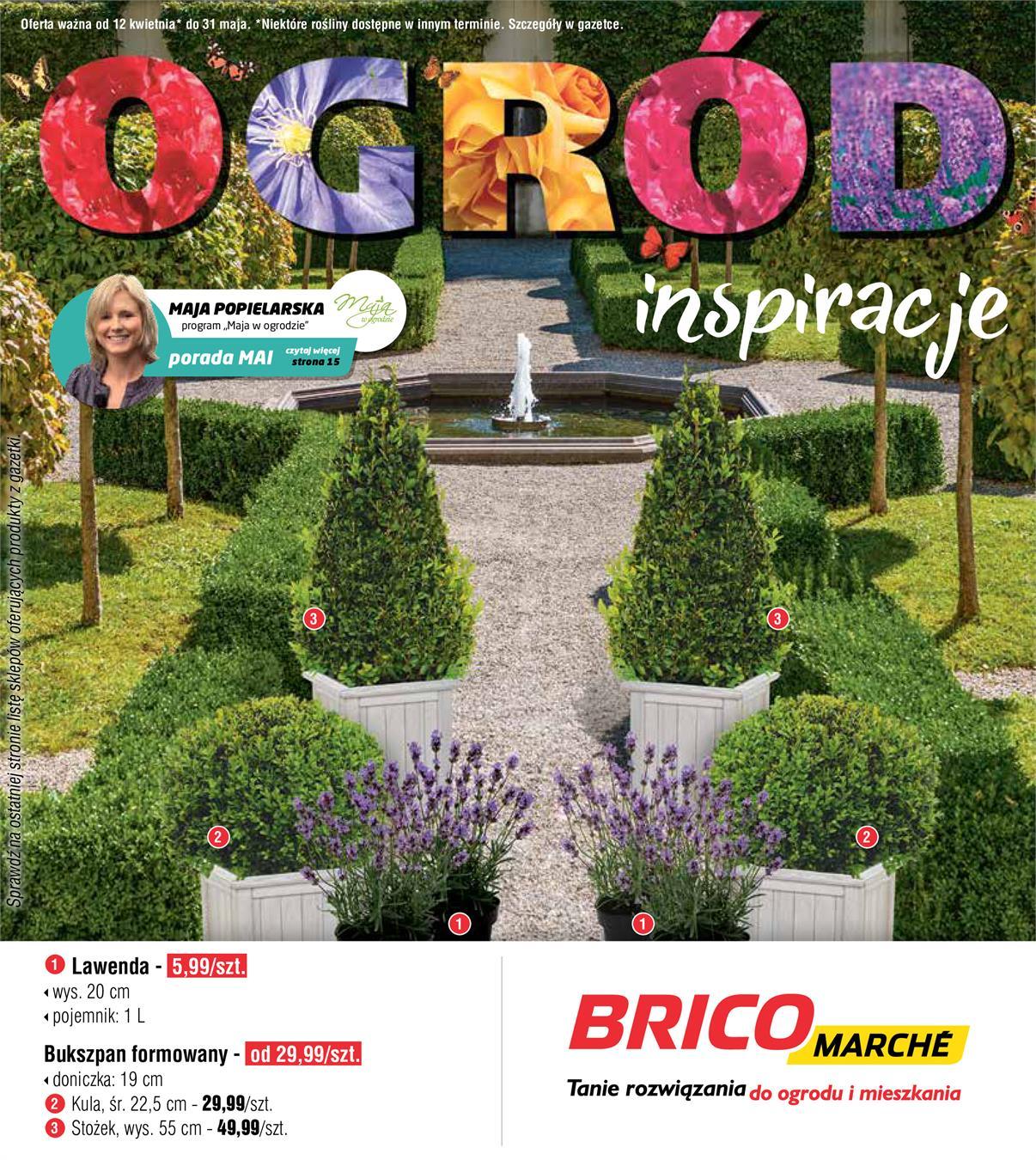Gazetka Promocyjna Bricomarchepl Ogród Inspiracje