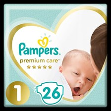 Pampers Premium Care 1 Newborn 2-5Kg 26Szt.