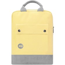 Tote Backpack Canvas Pastel lemon (S08)