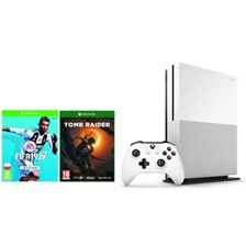 Xbox One S 1TB Biały + Shadow of the Tomb Raider + Fifa 19