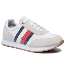Sneakersy TOMMY HILFIGER - Corporate Mix Flag Runner FM0FM02379 White 100