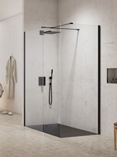 New Trendy Walk-In 150X80 New Modus Black Exk-1289