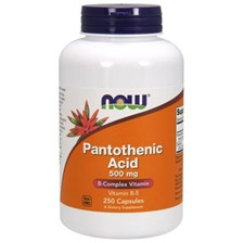 Now Foods Panthotenic Acid kwas pantotenowy 500 mg 250 kaps.