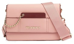 Tommy Hilfiger pudrowa torebka Item Statement Crossover Bridal Rose Mix