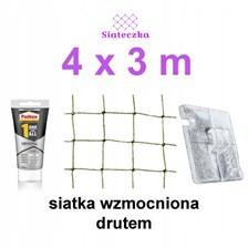 Zestaw Siatka Ochronna Dla Kota Balkon 4x3 Zaczepy Ceny I Opinie Ceneo Pl